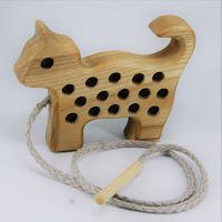 Lotes wooden toys,TT12, Threading Cat