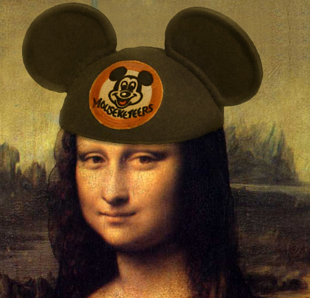 Mickey Mouse and Mona Lisa