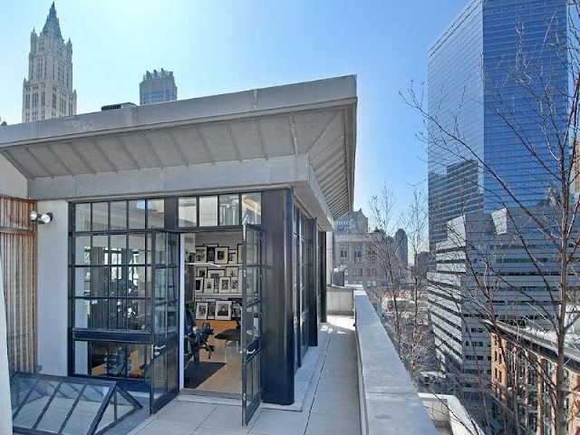 Photo of exit on the balcony of rooftop penthouse in Tribeca