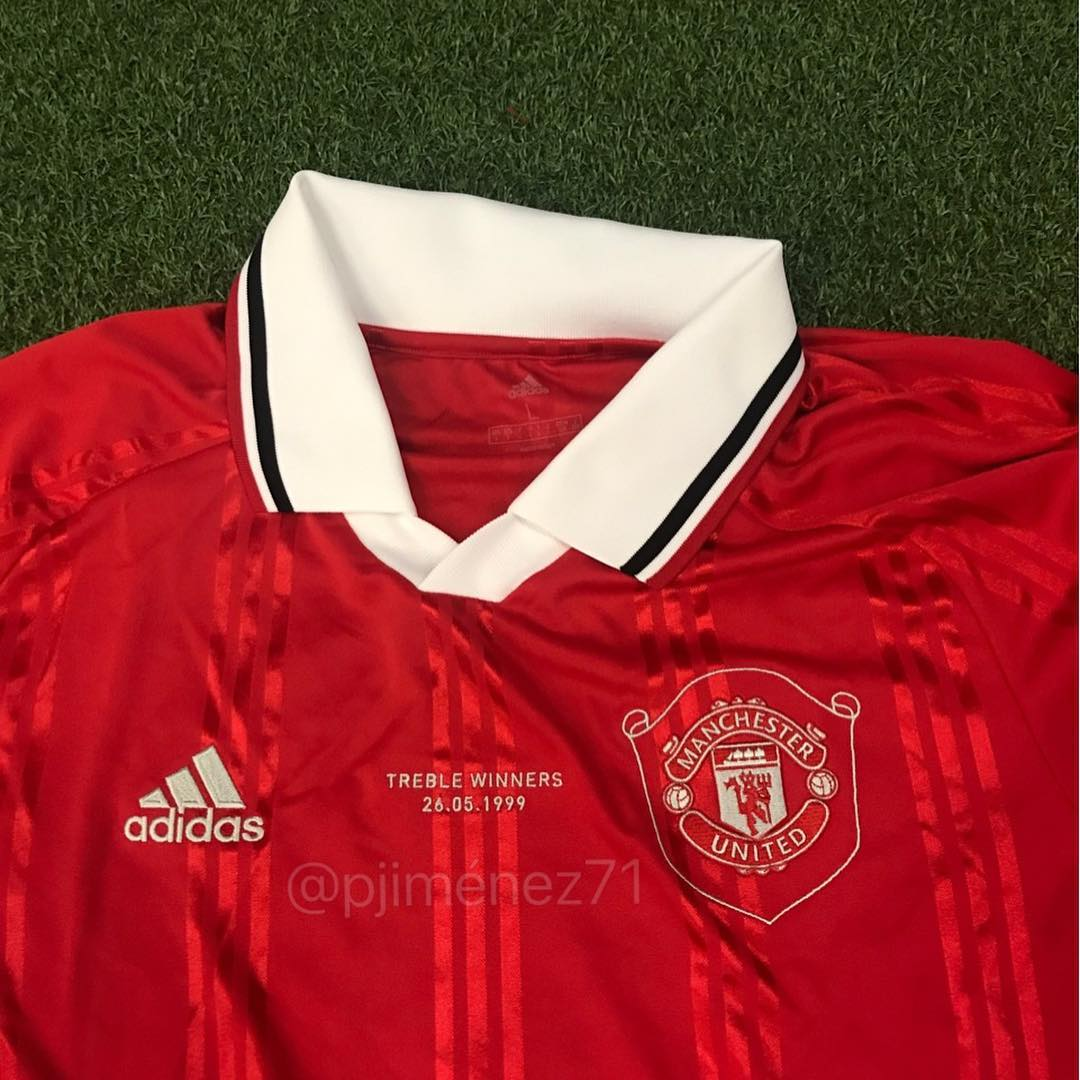 892e3777 1999 Treble-Inspired Adidas Manchester United 19-20 Icon Retro Jersey Leaked