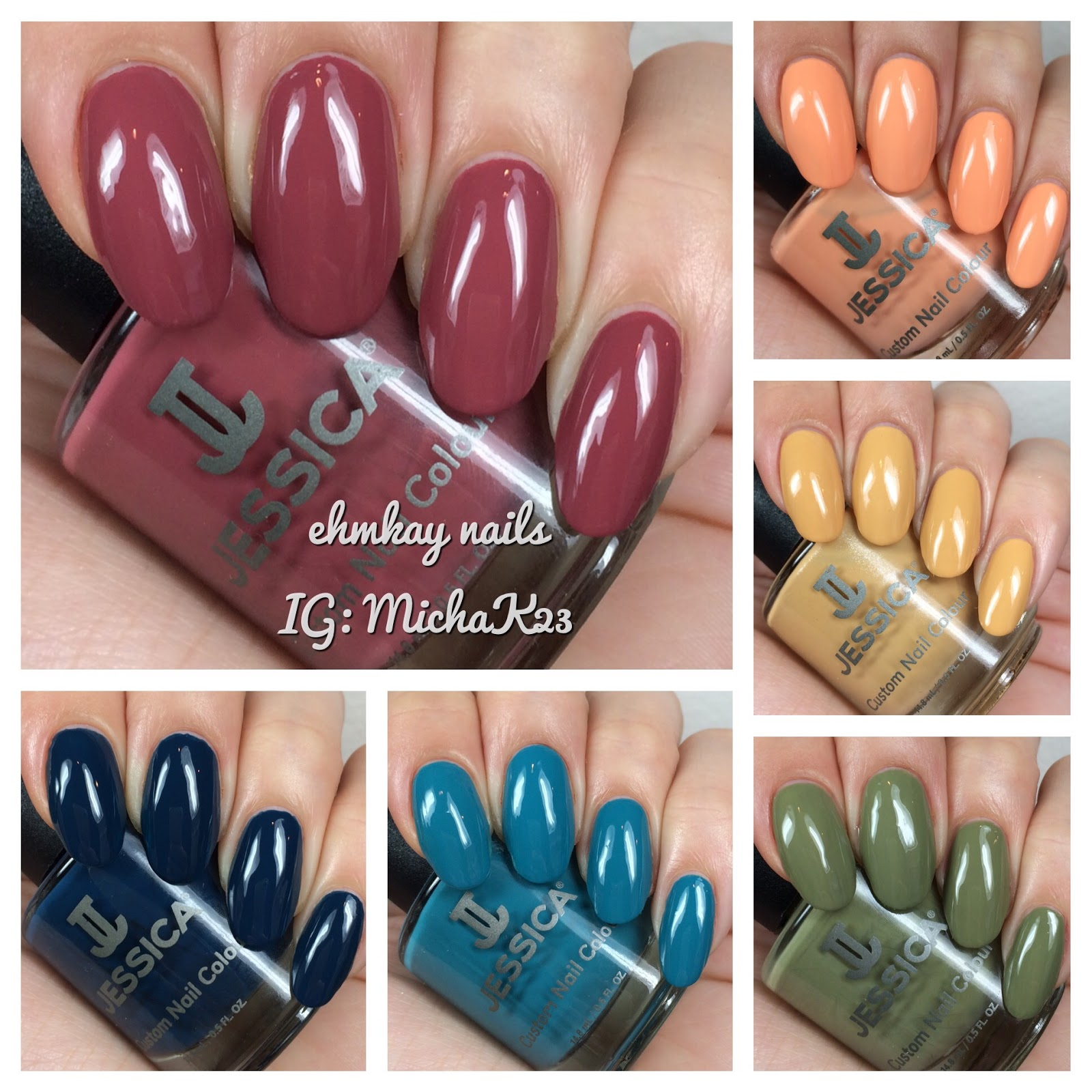 ehmkay nails: Jessica Cosmetics La Vie Boheme Swatches and Review