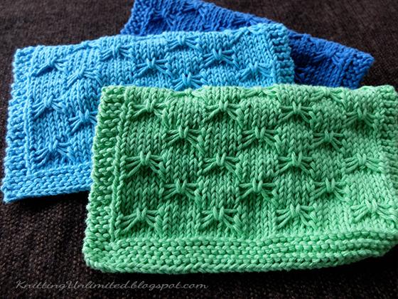 Butterfly Bowknot Knitting Dishcloth. Free Pattern #10 from KnittingUnlimited.blogspot.com