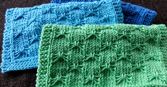 Dishcloth #10: Butterfly Bowknot - Knitting Unlimited