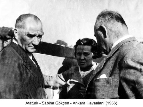 Atatürk Sabiha Gökçen 1936 Fotoğraf
