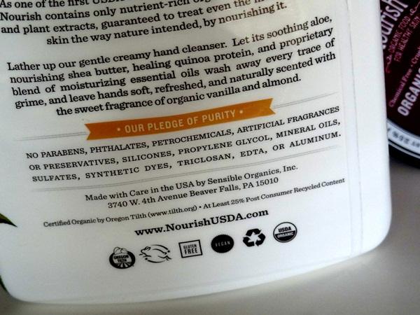 Nourish Organic Moisturizing Cream Face Cleanser Whole Foods