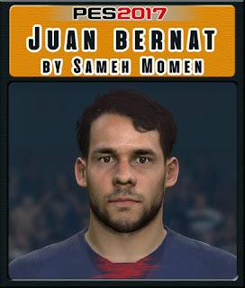 PES 2017 Faces Juan Bernat by Sameh Momen