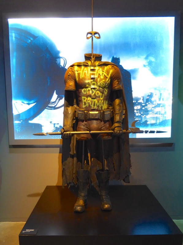 Knightmare Future Batsuit And Dead Robin Costume From Batman V Superman On Display