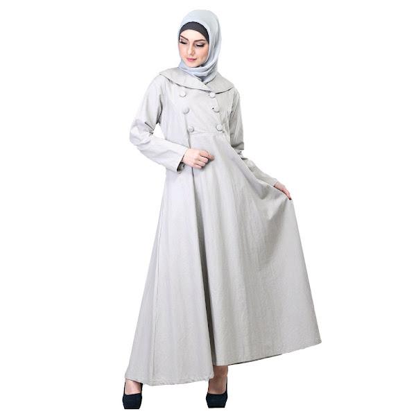 Gamis Muslimah Trendy Silver Baju Muslim Gamis
