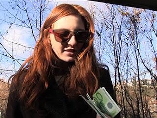 Public Agent Horny redhead fucked hard outdoors