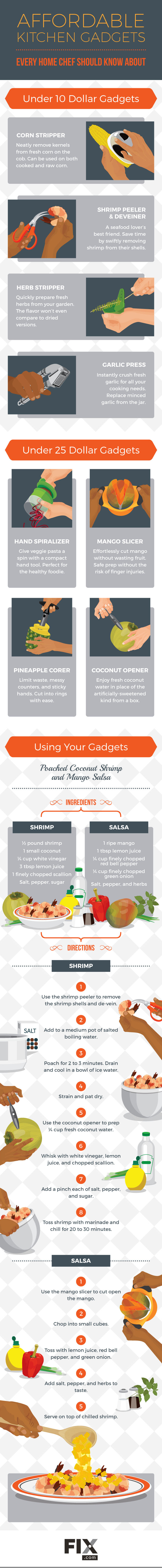 Affordable Kitchen Gadgets Every Home Chef Should Know About #infographic