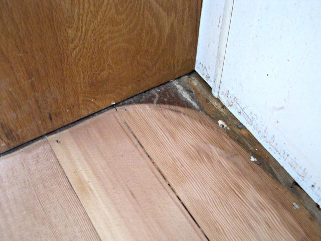 Corner sanded refinish hardwood