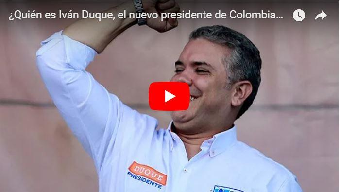 Iván Duque es el nuevo presidente de Colombia con 10 millones de votos