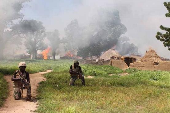 naf destroys boko haram building sambisa