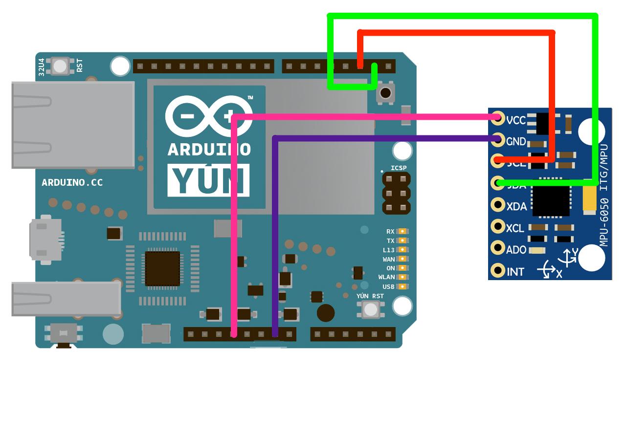 Arduino Yun Help: Arduino Yun to GY 521 (accelerometer) on
