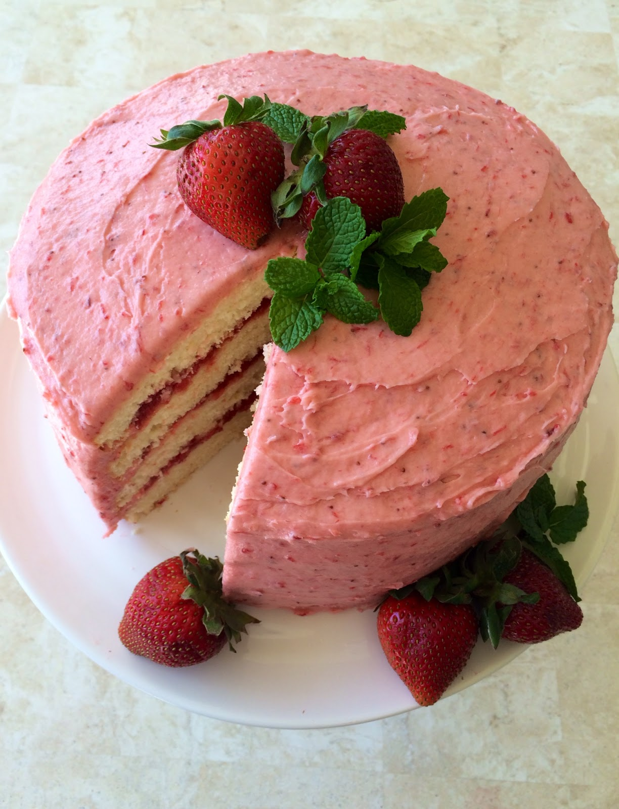 Strawberry Lemonade Layer Cake Southern Living