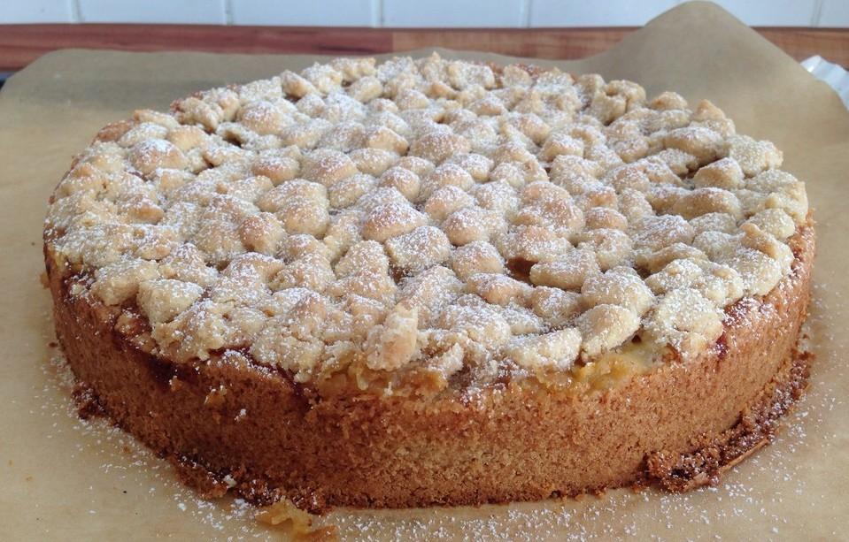 Backen Kochen Geniessen Apfelmus Vanillepudding Kuchen