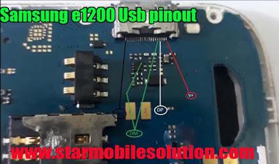 samsung e1200y usb pinout