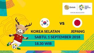 Berikut Jadwal Final Sepak Bola Asian Game 2018 Jepang vs Korea Selatan