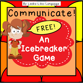 Make your life easier with this free and easy ice breaker game from Looks Like Language!