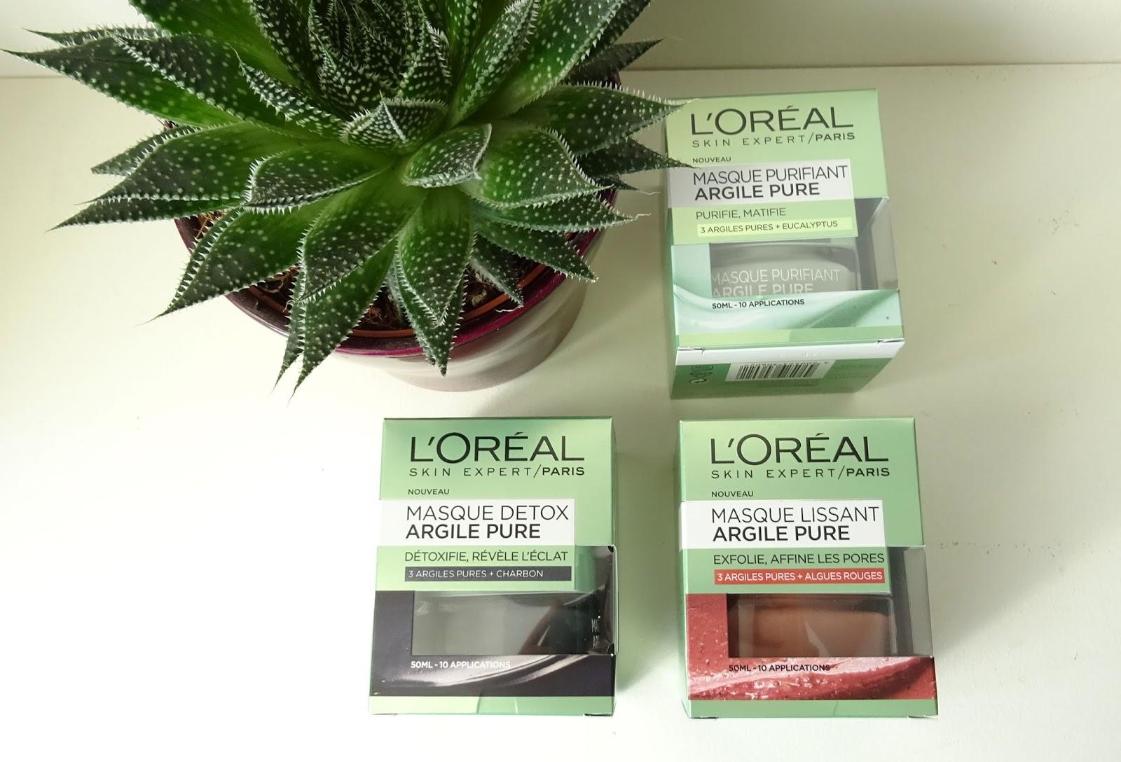 Le multi-masking avec les masques aux 3 argiles pures L'Oréal