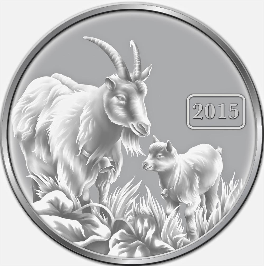 Coins & Paper Money Self-Conscious 2015 Australian $1 1oz Lunar Year Of The Goat Sheep Silver Coin Perth Mint