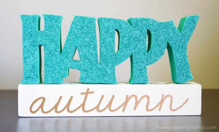 """""""Happy"""" Seasonal Block Tutorial at artsyfartsymama.com"""