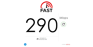 Hasil Test Kecepatan Koneksi Internet di Fast.com Netflix Super Cepat