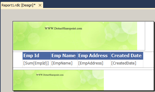 how to display page number in rdlc report   DotNetSharePoint