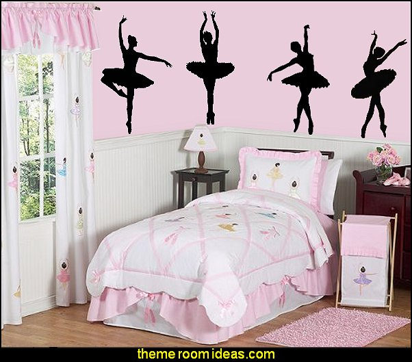 ballerina bedrooms - ballerina bedroom decorations - Ballet Theme Bedroom ideas - ballerina wall mural decals - Prima Ballerina bedroom decorating theme - swan lake bedroom ideas - ballerina bedroom wall decorations - swan lake wall decor