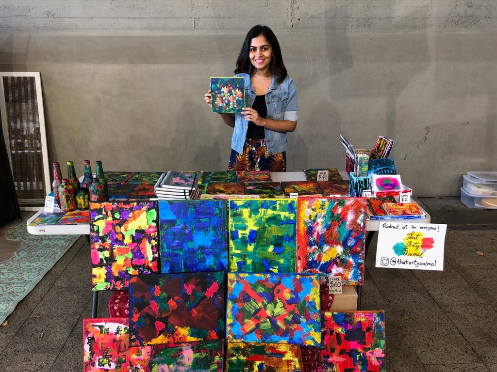 My First Art Stall At Kirribilli Markets Hand On The Hip