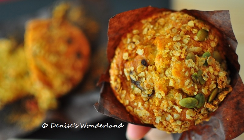 Dried fruits and pumkin seeds muffin