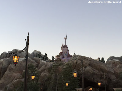 Fantasyland at dusk