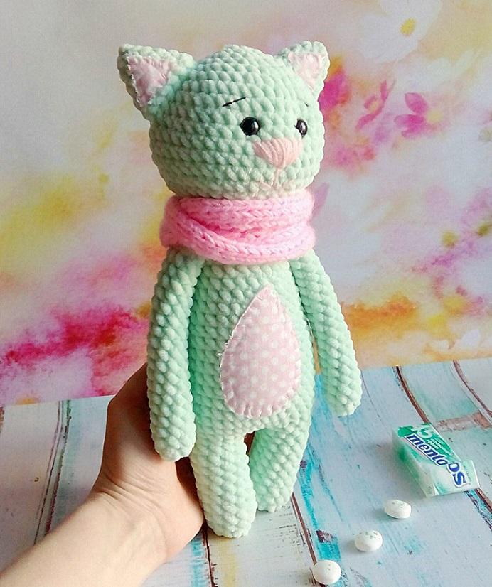 Котик Мякиш амигуруми: схема игрушки крючком | AmiguRoom