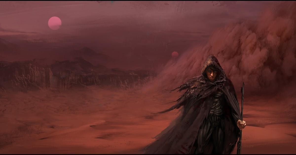 Dune Book Cover Art : Mark molnar sketch of concept art and illustration