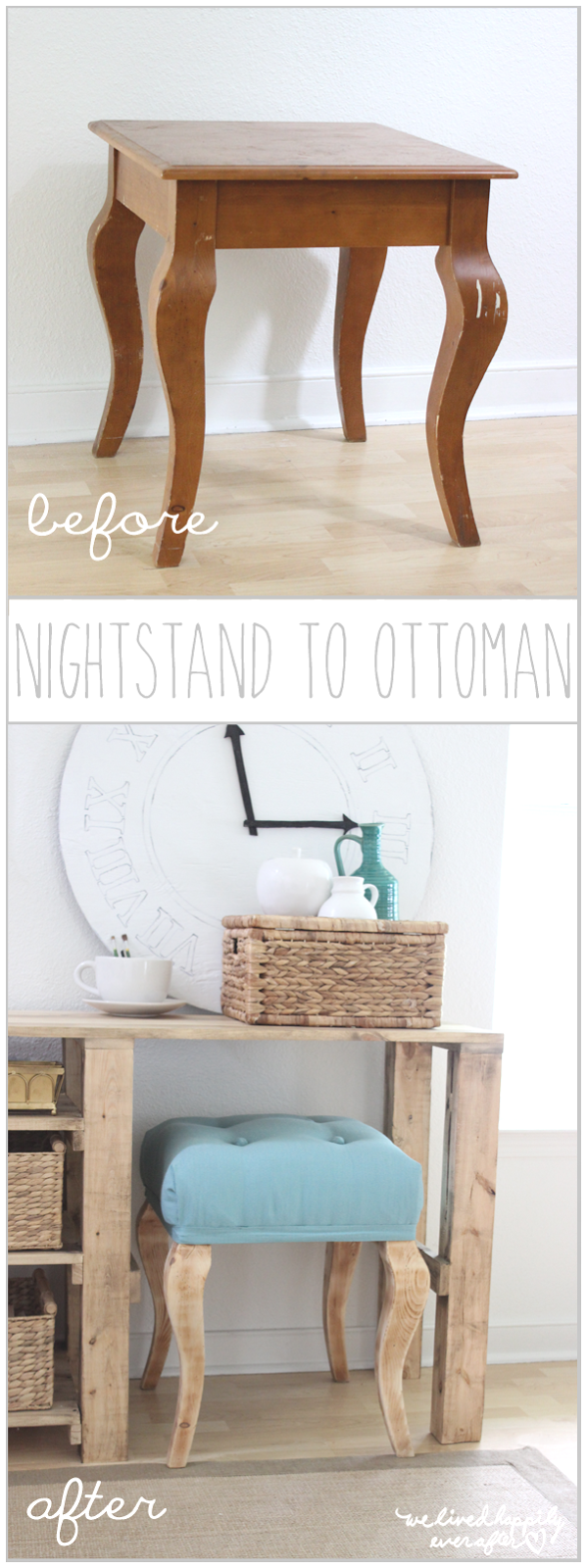 We Lived Happily Ever After Night Stand Tables Into Ottomans