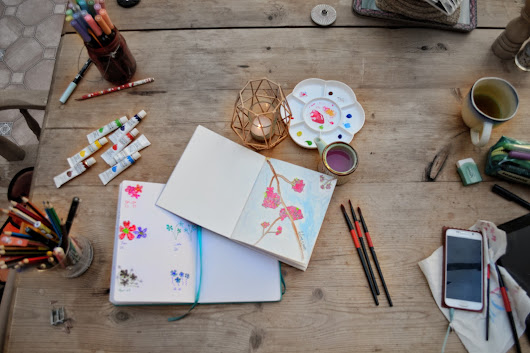 Unwind with Me | Painting Cherry Blossom with Watercolours