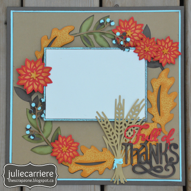 Fall Autumn Thanks Giving Layout