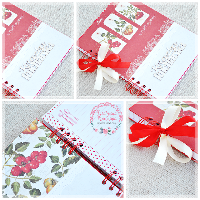 Notes, pamiętnik, przepiśnik, handmade, scrapbooking