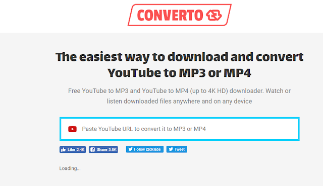 Video Youtube Downloader Converto.io