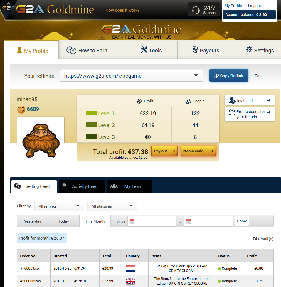 make money with g2a goldmine program step by step to earn 100 day