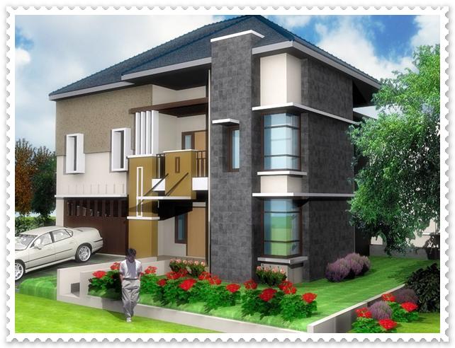 gambar desain rumah minimalis modern 2 lantai