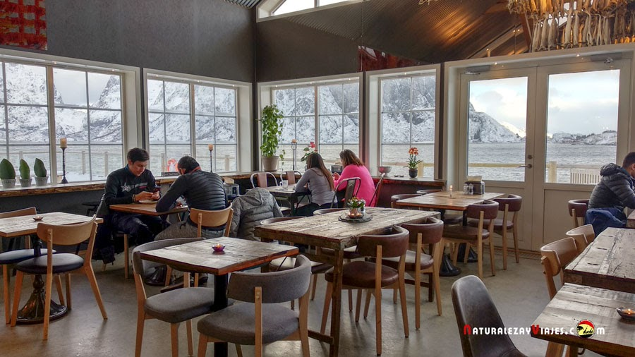 Restaurante Anita, localizado en Sakrisøy