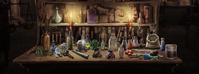 Pozioni e ingredienti nel vecchio Pottermore