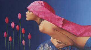 flores-y-chicas-pinturas-oleo