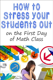 Here is a great blog post about how to have a successful first day in your middle school math classroom. Whether you teach prealgebra, algebra or geometry you need to read this so your students feel comfortable in your math class.