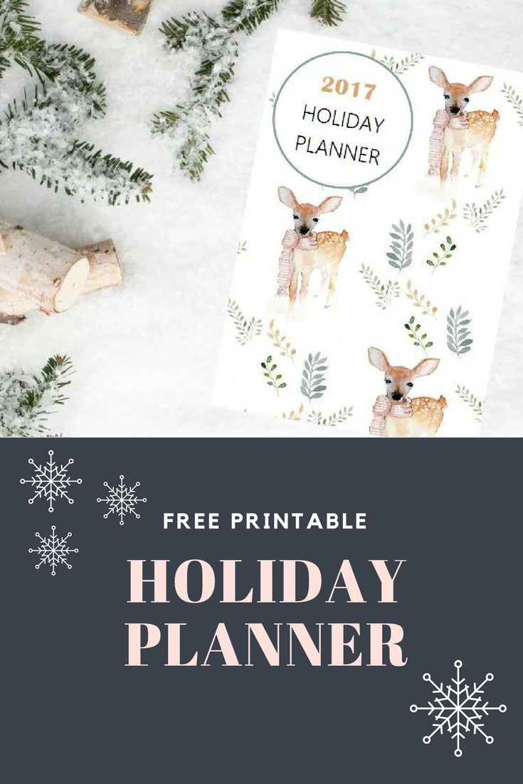 Free Printable 2017 Holiday Planner: The perfect planner to make your Season a bit easier, more stress free and a bit more organized | Ioanna's Notebook