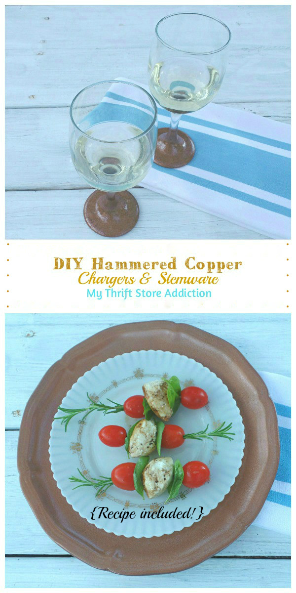 DIY hammered copper and caprese appetizer