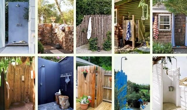 30+ Κατασκευές για Ντουζιέρες σε Εξωτερικούς Χώρους