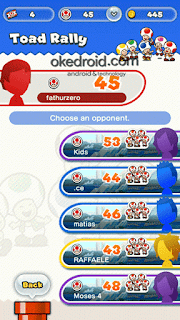 Game Mode Toad Rally Super Mario Run