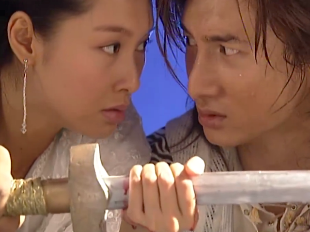 scene from ep 10 Xiao Shi Yi Lang 2002 starring Nicky Wu and Athena Chu